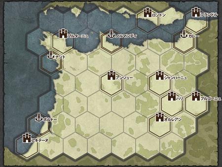 百年戦争マップ